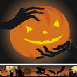 Royalty-Free Stock Vector Image: Helloween pumpkin