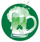 Green Patrick beer — Stock Vector