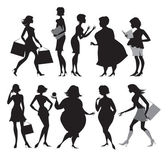 Women silhouettes — Stock Vector