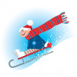 Winter sledding — Stock Vector