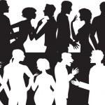 gruppo di parlare — Vettoriale Stock