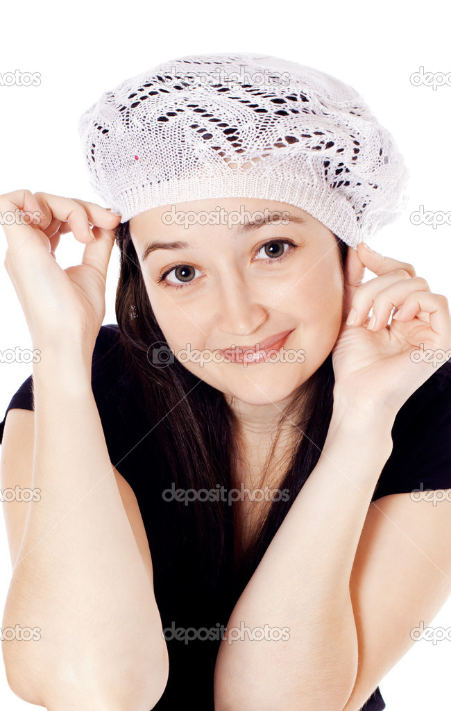 Beautiful girl in a beret  Stockfoto #6754552