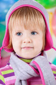 Little girl in hat — Stock Photo