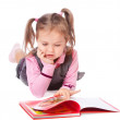 Little girl reading a book — Stock Photo #7533243