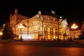 Night view of Kiev opera-house theatre — Stock Photo