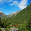 Small village in Norwegimountain. — Foto de stock #6870034