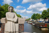 The canal of Dutch town. — Stock Photo