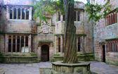 Patio interior del castillo de skipton — Foto de Stock