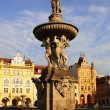 Royalty-Free Stock Photo: Samson fountain in the Czech Budejovice