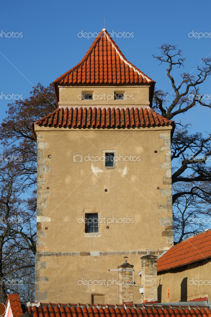 Tower of Iron Maiden in Czech Budejovice  — Stock Photo #6848387