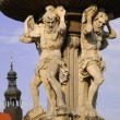 Stock Photo: Samson fountain in the Czech Budejovice