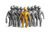 Muži v šedé (& zlato) — Stock fotografie