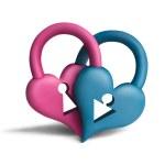 Heart-locks2 — Stock Photo