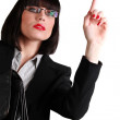 Smart businesswoman asking for some help — Stock Photo #6985116