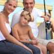 Royalty-Free Stock Photo: Portrait of a family fishing
