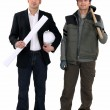 An architect and a foreman — Stock Photo #7025822