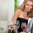 Couple at dinner — Stock Photo #7026114