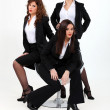 Trio of dynamic businesswomen — Stock Photo #7089774