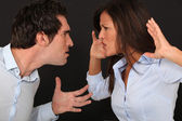 Violent couple dispute — Stock Photo