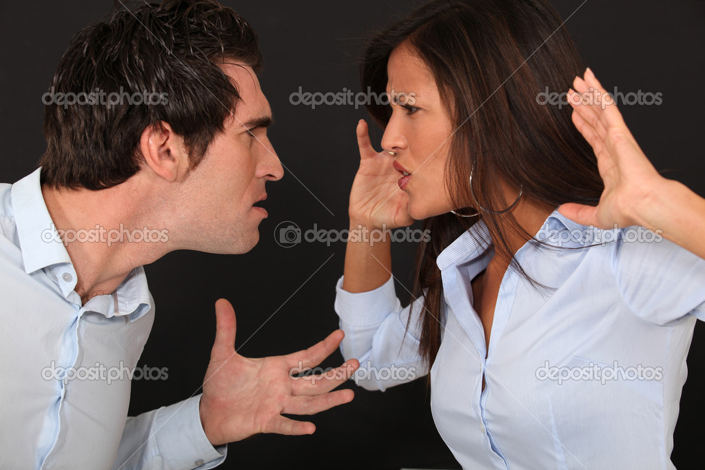 Violent couple dispute — Stockfoto #7089798