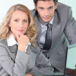 Royalty-Free Stock Photo: Businessman and woman