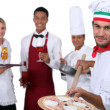 Waiters and cooks — Stock Photo