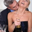 Man kissing his wife's neck — Stock Photo #7133386