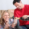 Couple with champagne — Stock Photo #7133501