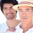 Adult son and father on holiday — Stock Photo #7133979