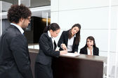 Business reception desk — Stock Photo