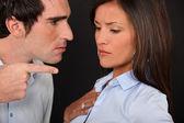 A couple having an argument. — Stock Photo