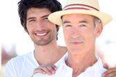 Adult son and father on holiday — Stock Photo