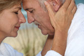 Closeup of a mature couple in love — Foto Stock