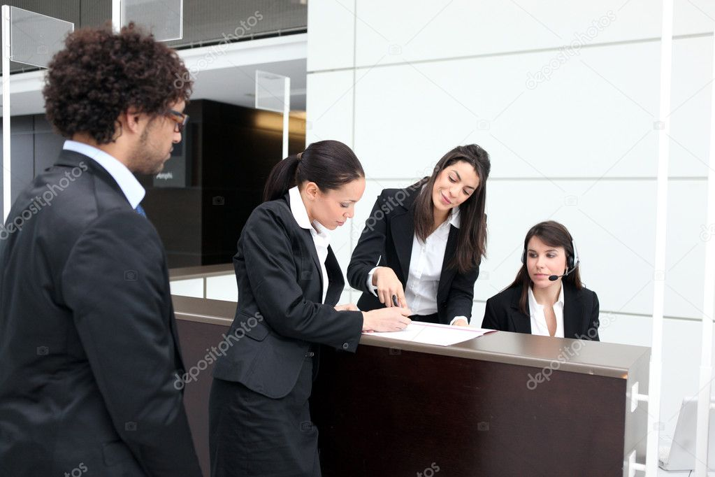 Business reception desk — Stock Photo #7132674