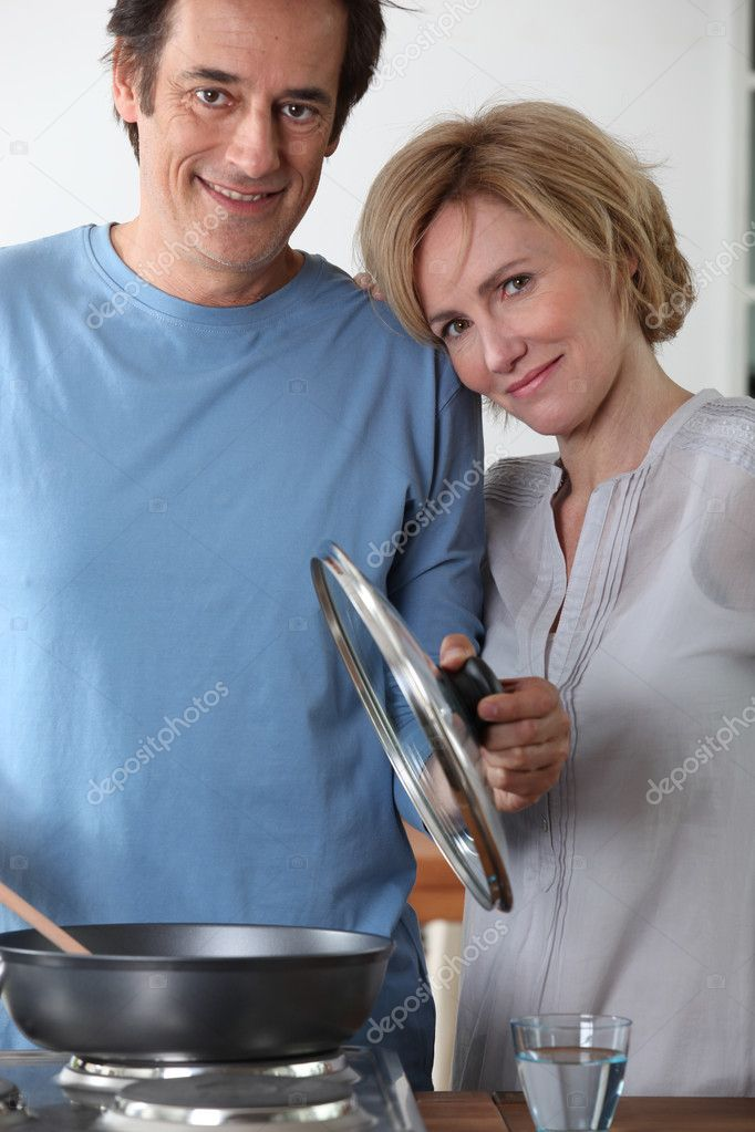 Couple cooking  Stock Photo #7133684
