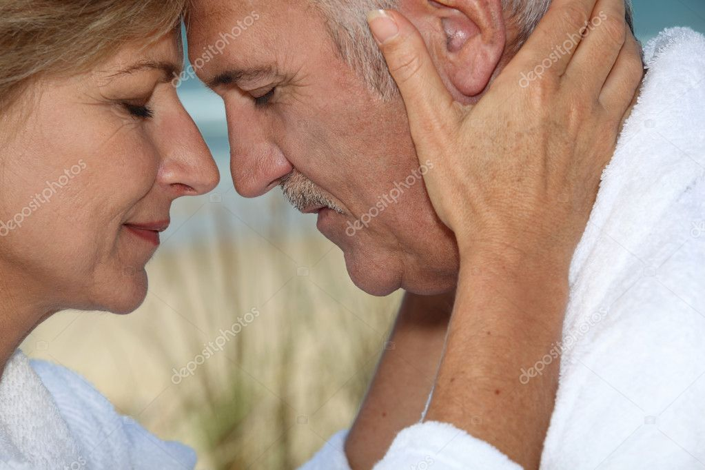 Closeup of a mature couple in love  Stock Photo #7134282