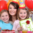 Stock Photo: Children at birthday party