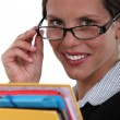 Secretary wearing glasses — Stock Photo #7230760