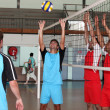 Volley-ball players in action — Stock Photo #7230987