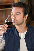 Man smelling wine — Stock Photo