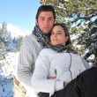 Couple on a winter vacation — Stock Photo #7320831