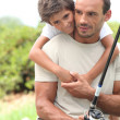 Father and son fishing — Stock Photo #7320860