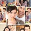 Royalty-Free Stock Photo: Couple mosaic