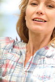 Closeup of a woman in her thirties — Stock Photo