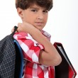 Foto Stock: School boy