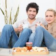 Couple having breakfast — Stock Photo #7362521