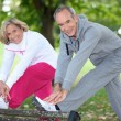 Stock Photo: Couple doing sport