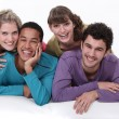 Stock Photo: Group of young hanging out together