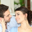 Couple staring lovingly into each other's eyes — Stock Photo