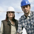 Royalty-Free Stock Photo: Male and female construction workers